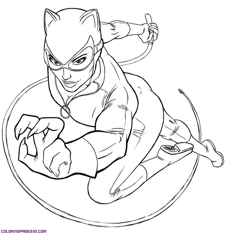 Catwoman Coloring Pages | Catwoman for coloring | Color Me Calm ...