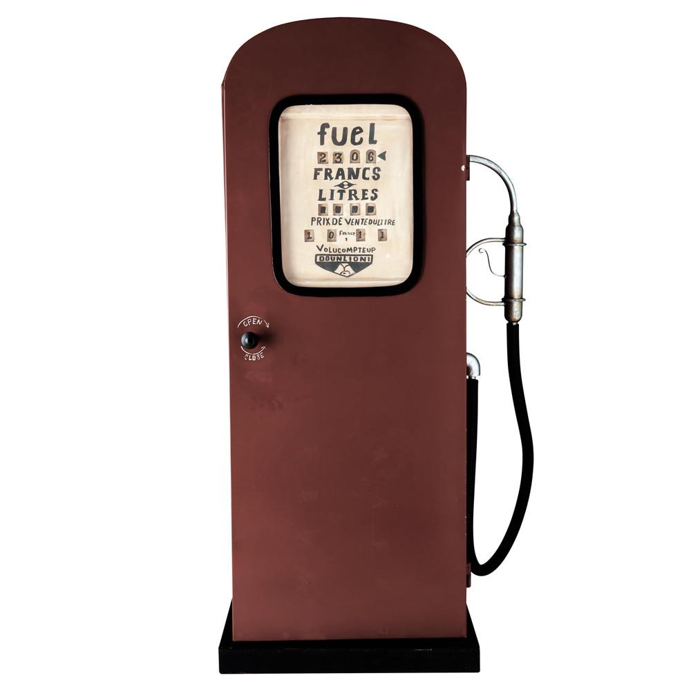 Meuble pompe à essence en métal rouge H 126 cm | Men cave and Cave