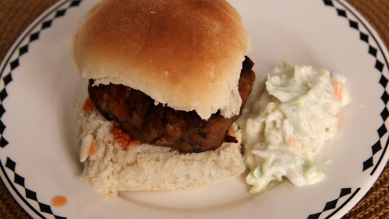 Buffalo Chicken Burgers - Recipe by Laura Vitale - Laura in the ...