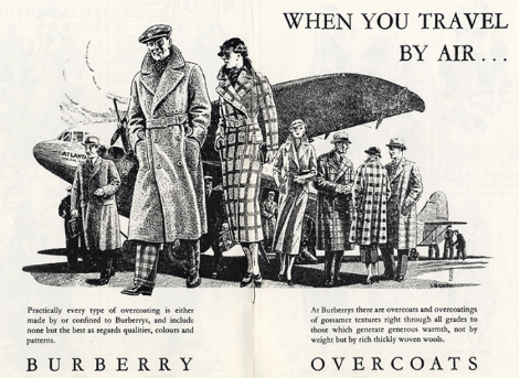 BURBERRY, TRENCH COAT, HISTORY OF THE TRENCH COAT, ADVERTISEMENT, VINTAGE ADVERTISING, VINTAGE FASHION
