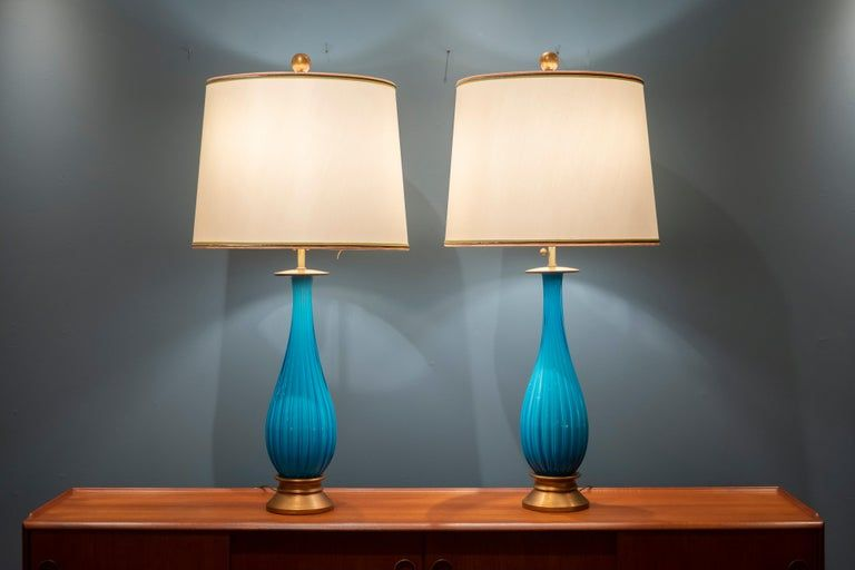 Murano Glass Table Lamps By Mabro Table Lamp Glass Table Lamp Vintage Table Lamp