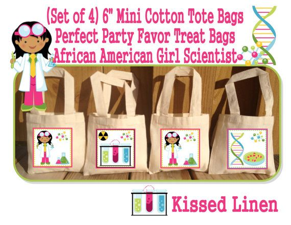 African American Science Party Scientist Birthday Party Treat