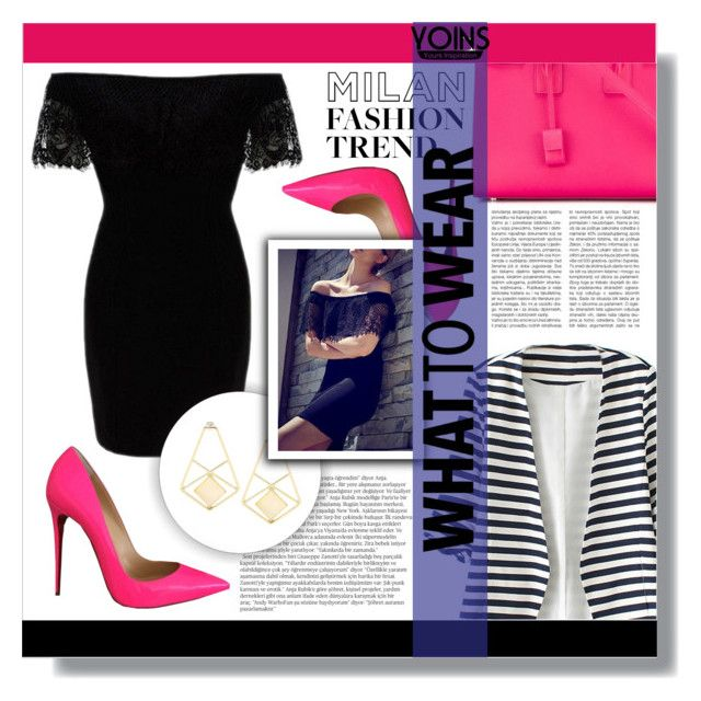 """YOINS CONTEST"" by purplerabbit-d ❤ liked on Polyvore featuring WithChic, Christian Louboutin, Balmain, Yves Saint Laurent and yoins"