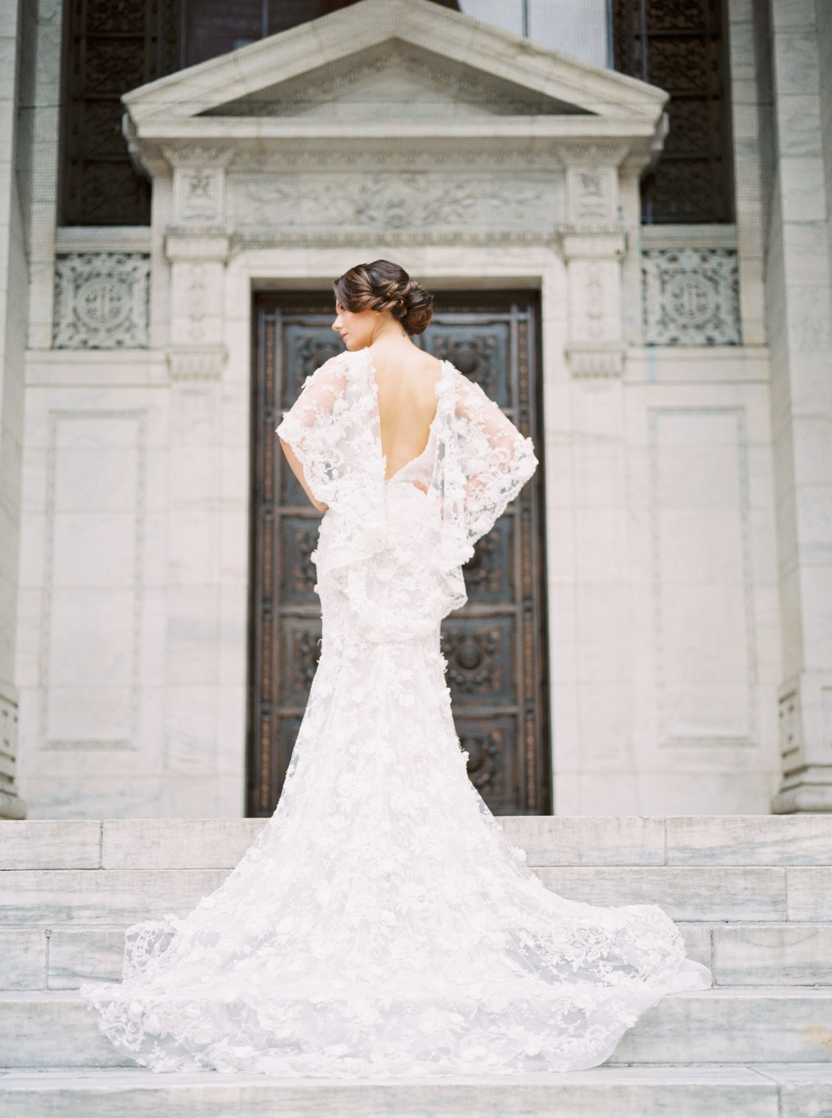 The Tale Of A Marchesa Gown And The New York City Public Library Marchesa Bridal Gowns Marchesa Bridal Wedding Dresses