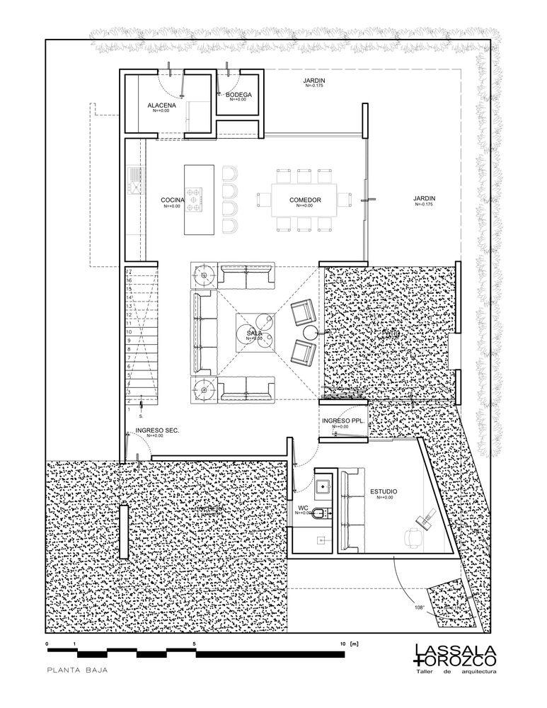 Galería De Casa Domus Tuam Lassala Orozco Arquitectos 13 Floor Plans House Plans Commercial Complex