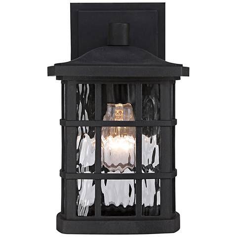 Quoizel Stonington 10 1 2 H Matte Black Outdoor Wall Light 8p378 Lamps Plus Black Outdoor Wall Lights Outdoor Wall Lighting Outdoor Hanging Lights