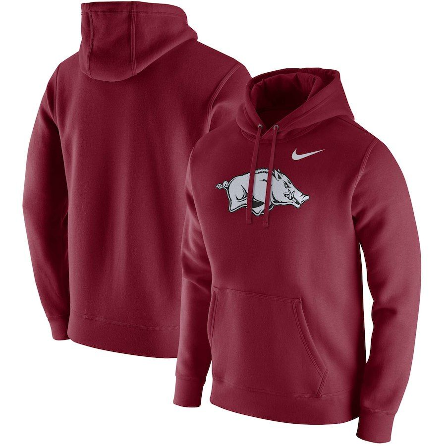 Arkansas Razorbacks Nike Club Fleece Pullover Hoodie Cardinal Arkansas Razorbacks Hoodies Pullover Hoodie [ 900 x 900 Pixel ]