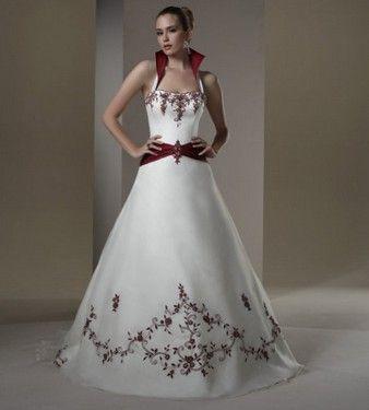 vestido de novia rojo y blanco 2 vestidos de novia en blanco y rojo