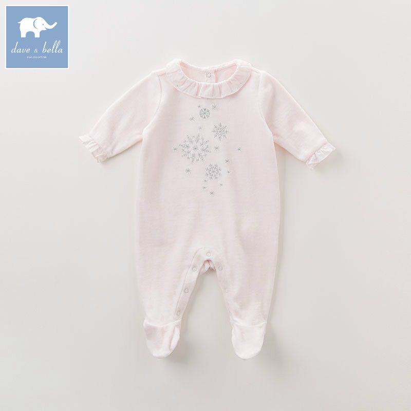 4768e145e918 DB6049 dave bella autumn new born 0-12 month baby girls cotton romper  infant clothes