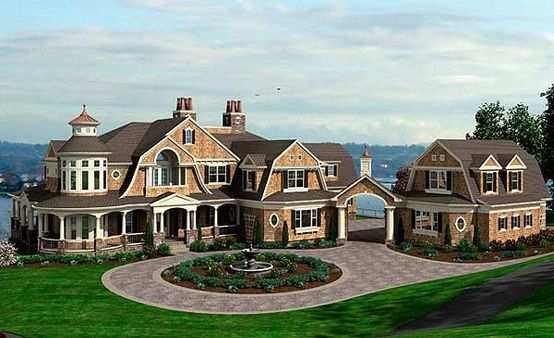 Plan 23413jd spectacular shingle style house plan big for Huge home plans