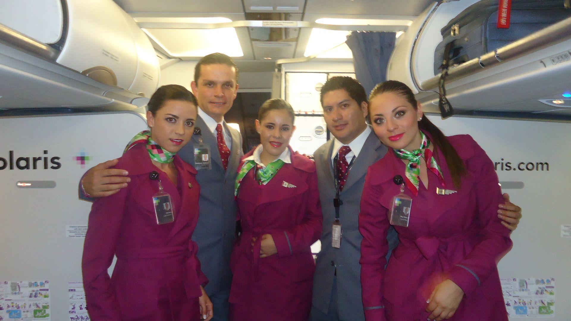 Nuestra tripulación lista para emprender el vuelo