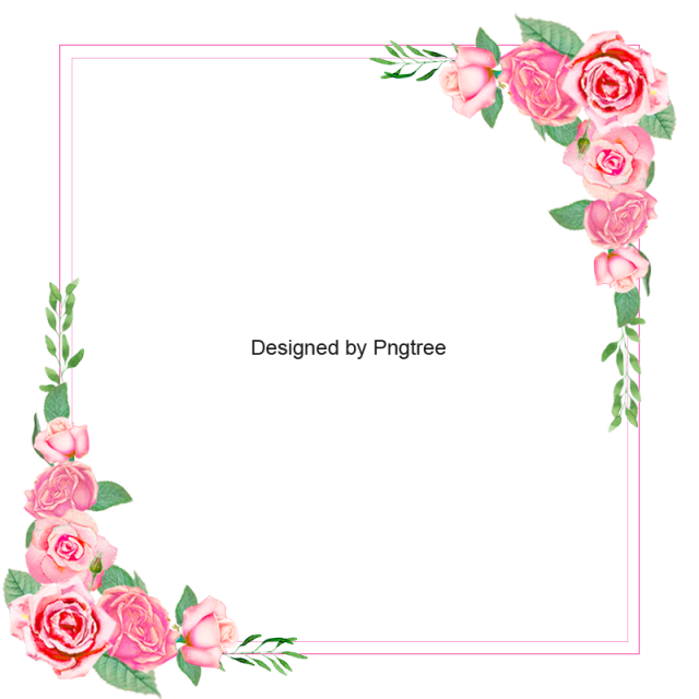 Flower Border Rose Border Border Flower Frame Floral Rose Backdrop