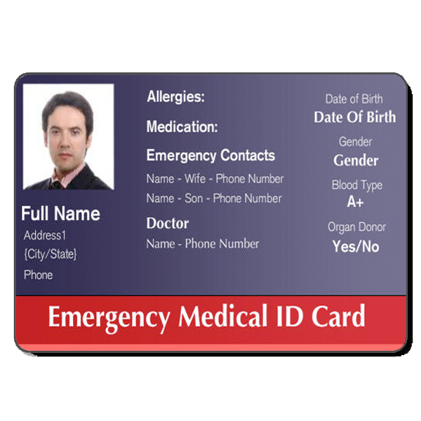 Medical Id Cards  HealthcareHospital Badge    Card