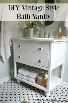 Web Photo Gallery How to Build a DIY Vintage Style Bathroom Vanity Free Printable Project Plan via