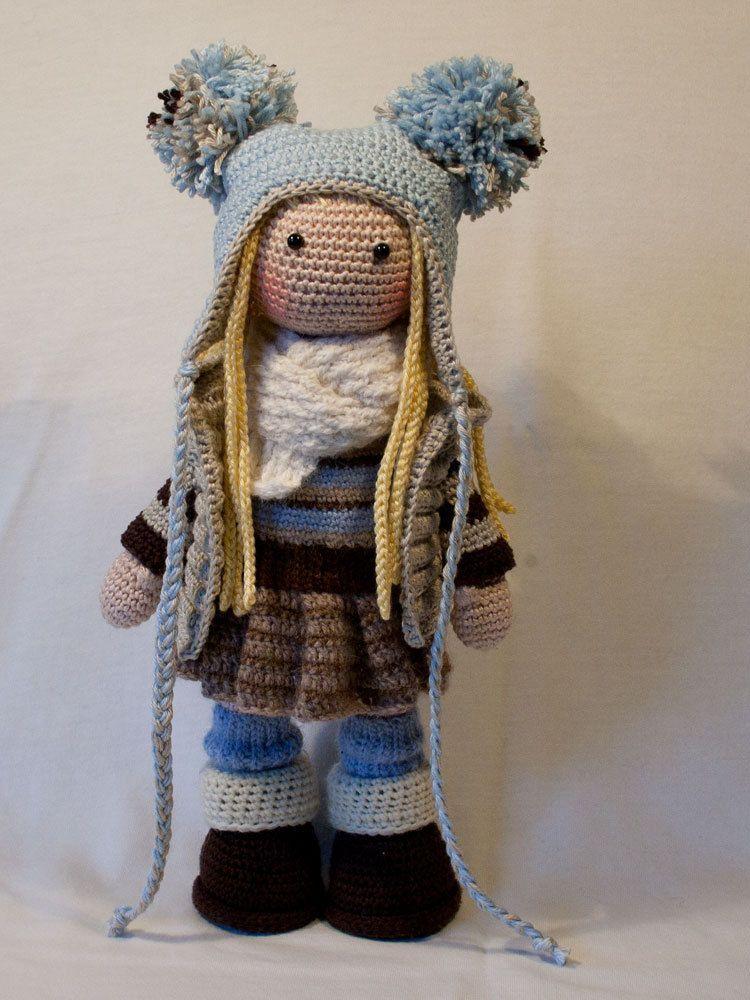 Crochet pattern for doll JOYA, pdf (Deutsch, English, Nederlands, Español, Français) #instructionstodollpatterns