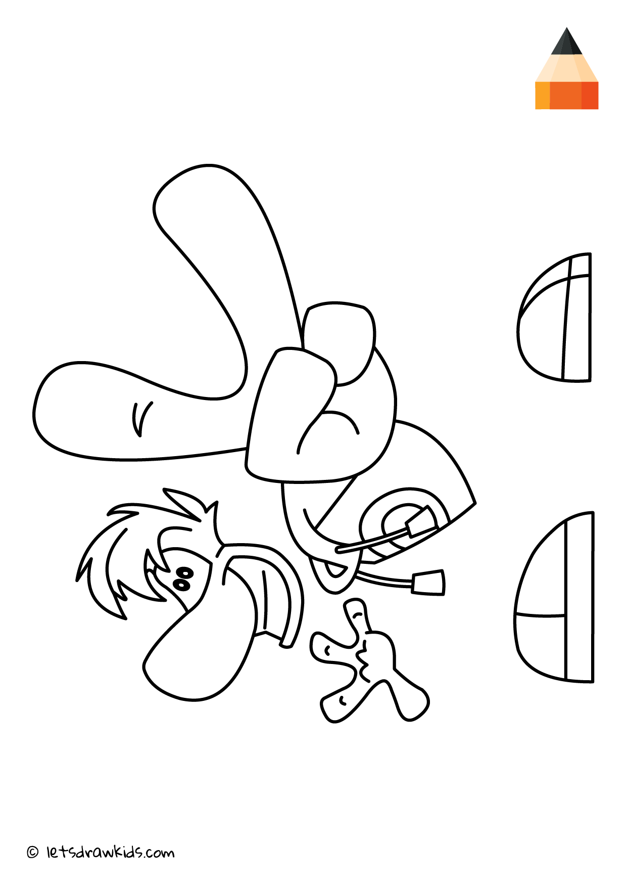 coloring page rayman