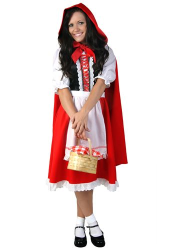 Adult Little Red Riding Hood Costume - Womens Red Riding Hood - mens halloween ideas