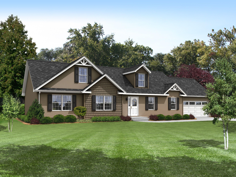 Arlington i au165a aurora classic ranch modular for Classic ranch house plans