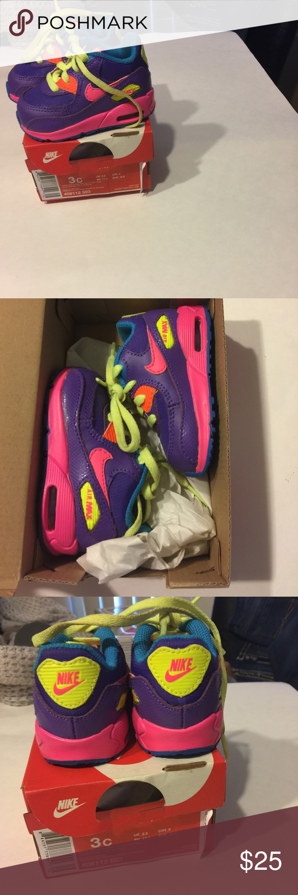 153cd4951a Infants Nike Air Max Size 3 Gently used baby Air Max....well kept and a very  versatile shoe....goes great with so many different outfits.