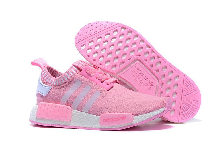 fe0ce59ad4d9f Adidas Originals NMD Runner Primeknit Women Running Shoes pink white ...