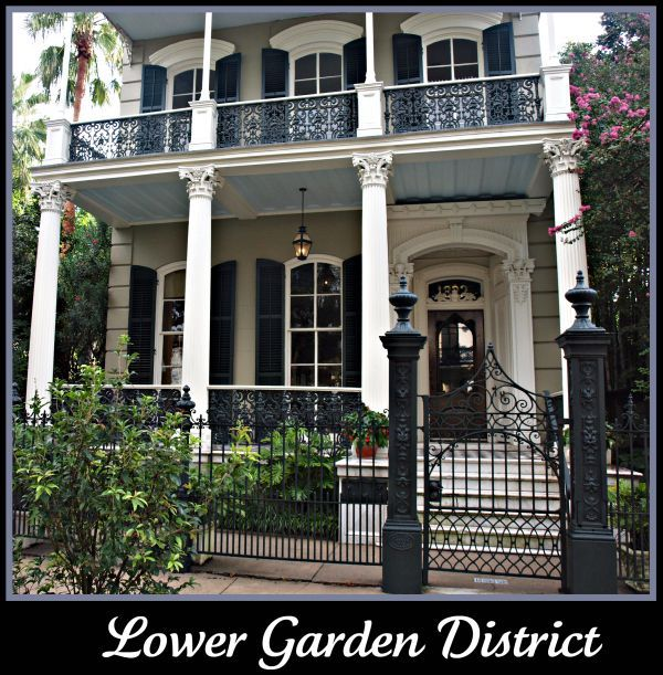 New Orleans Style Homes Lower Garden District Home Double Gallery