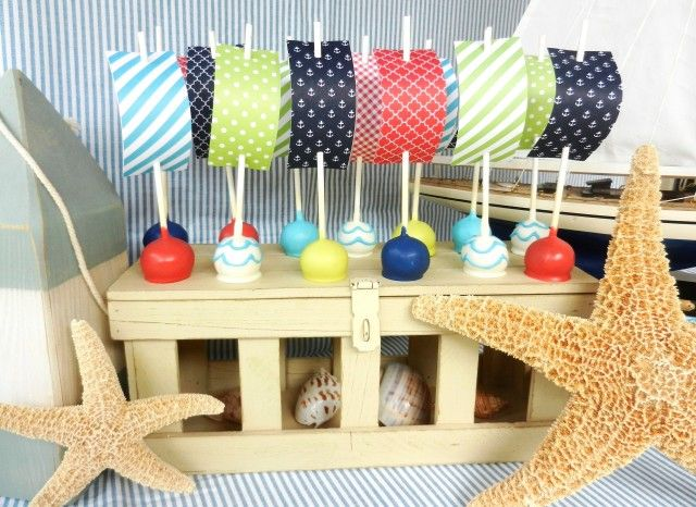 Cake Pop Designs For Baby Shower : nautical cake pops Make Waves with these Nautical Cake ...