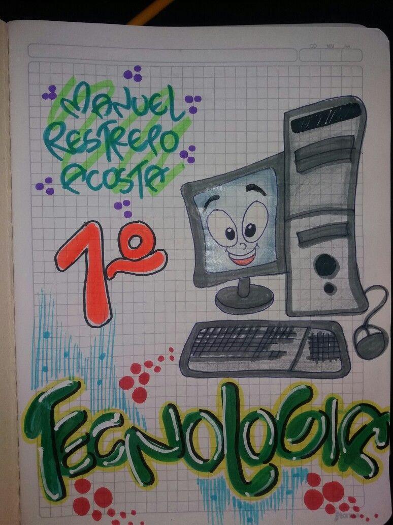 Dibujos De Informatica Faciles Buscar Con Google Marcas De Cuadernos Cuadernos De Dibujo Decoracion De Cuadernos
