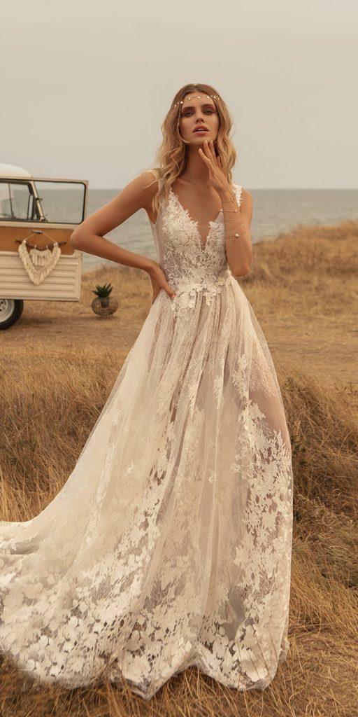 18 Rustic Lace Wedding Dresses For Different Taste
