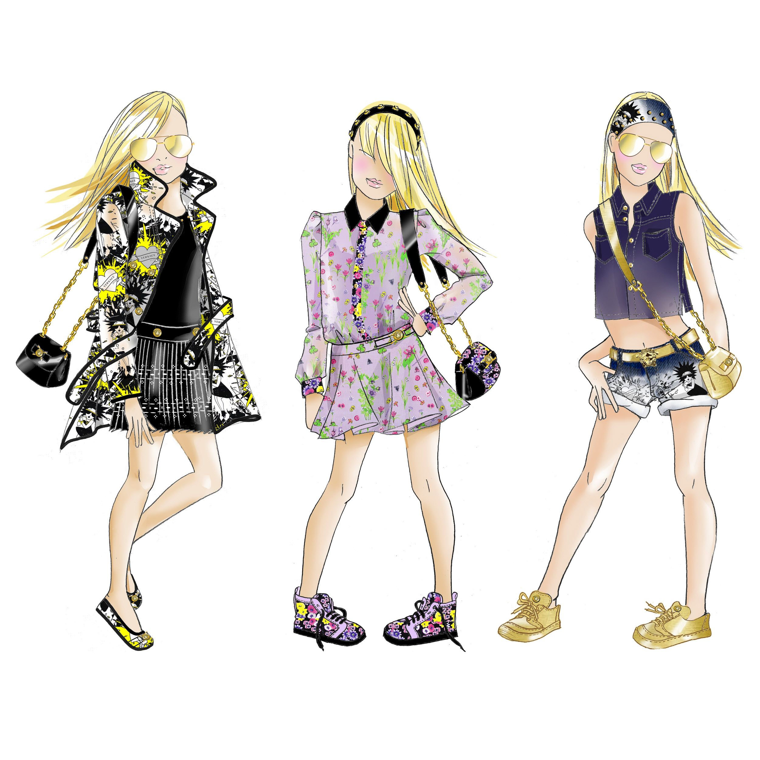 Young Versace Sketch Spring Summer 2014 | Luxe Kids ...