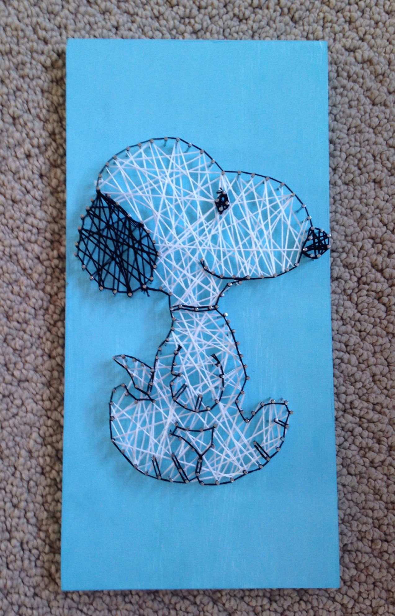 Snoopy string thing | String art | Pinterest | Fadenbilder ...