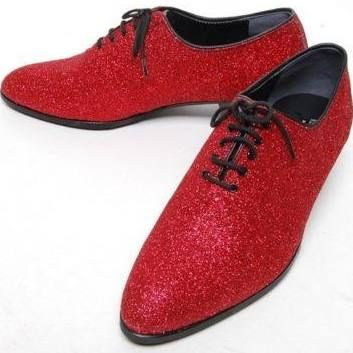 Mens red glitter shoes - @racarp These