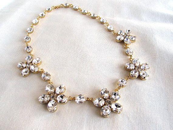 Reproduction Regency Floral Necklace by Dames a la Mode