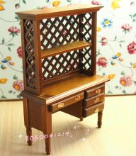 Dollhouse Miniature 1:12 Furniture Wooden hollowed-out Display Cabinet FUR17(China (Mainland))