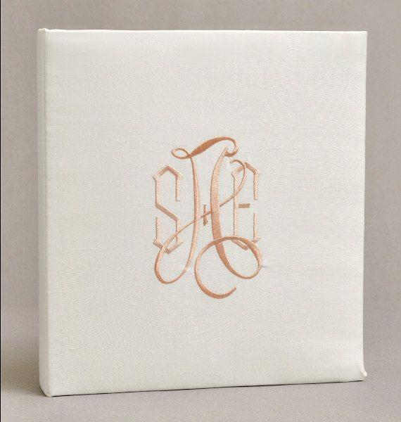 Wedding Memory Book Silk Dupioni Personalized With By Weddingsetc
