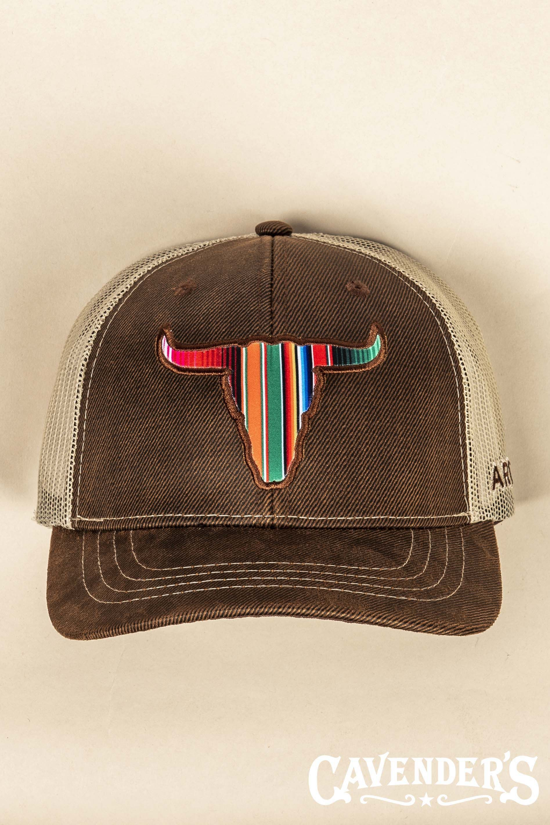 5fe4dfb8c Ariat Brown Serape Skull Snap Back Cap | Style in 2019 | Country ...