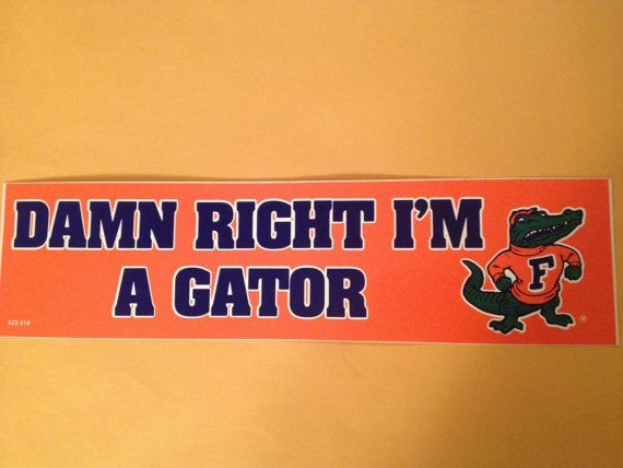 Hey, I found this really awesome Etsy listing at https://www.etsy.com/listing/174890555/florida-gators-bumper-sticker-vintage