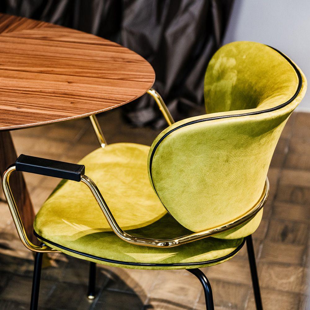 High End Italian Designer Retro Style Carver Dining Chair