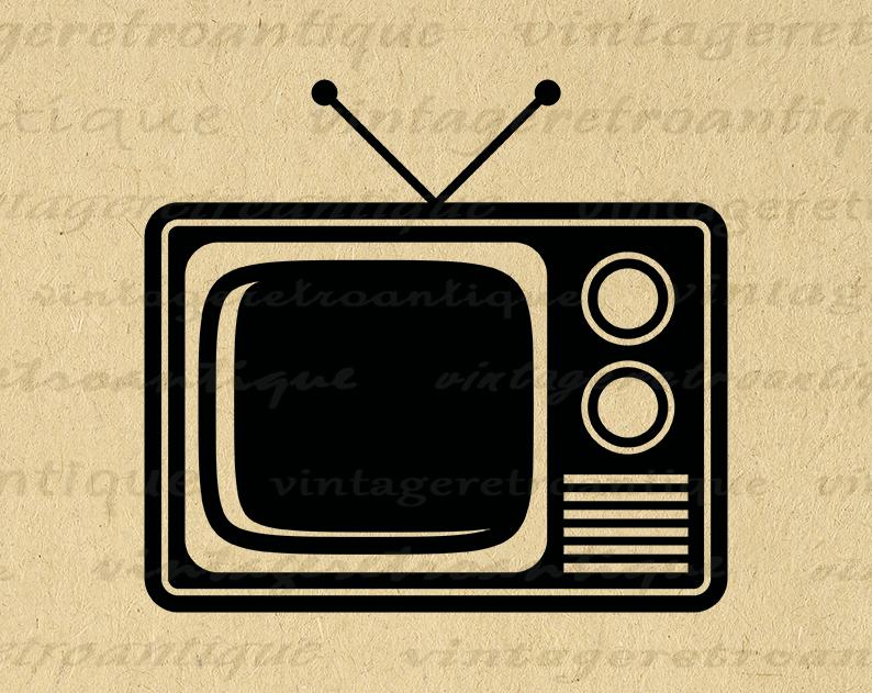 Digital Printable Television Graphic Vintage Tv Image Artwork Etsy Digital Printables Clip Art Vintage Clip Art