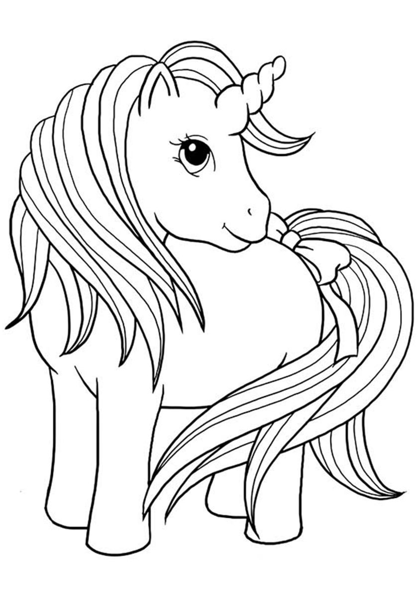 Tale With A Bow Horse Coloring Pages Animal Coloring Pages