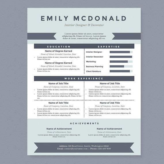 This clean and professional resume will help you get noticed