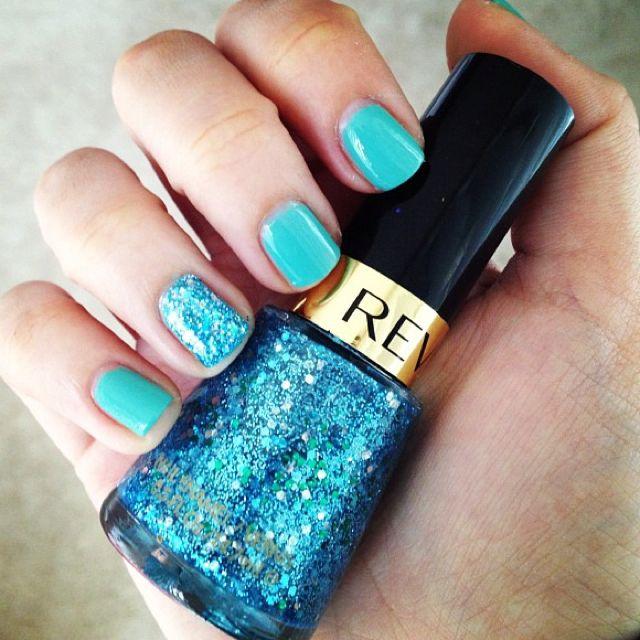L'oreal Club Prive + Revlon blue mosaic