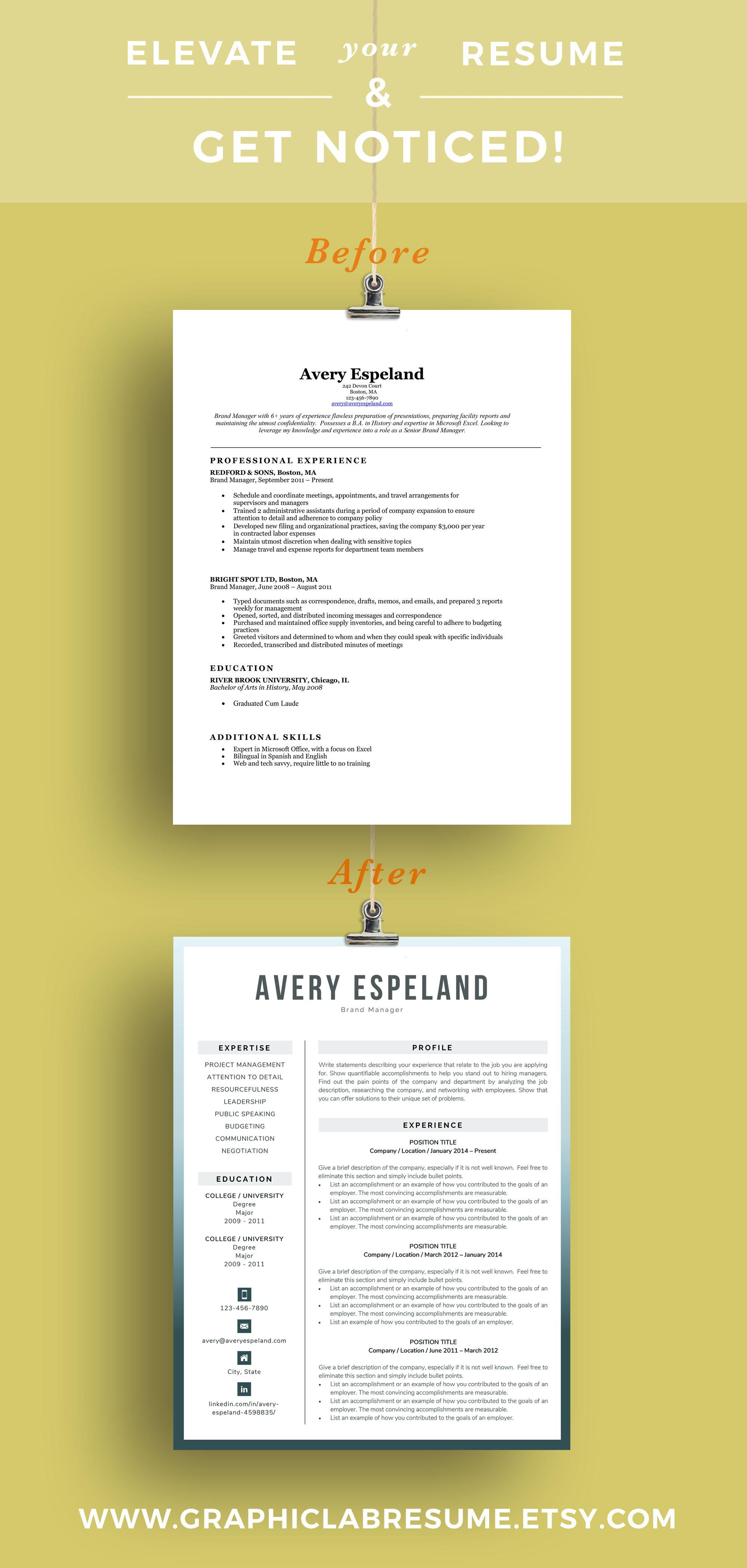 Modern Resume Template Cv Template Word Creative Resume Etsy Modern Resume Template Cv Template Word Creative Resume Templates