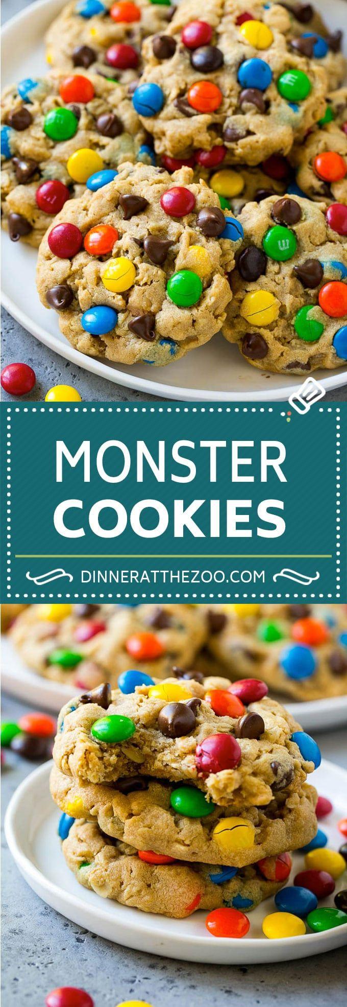 Monster Cookies Recipe  Oatmeal Cookies  Peanut Butter Cookies  MMs Cookies