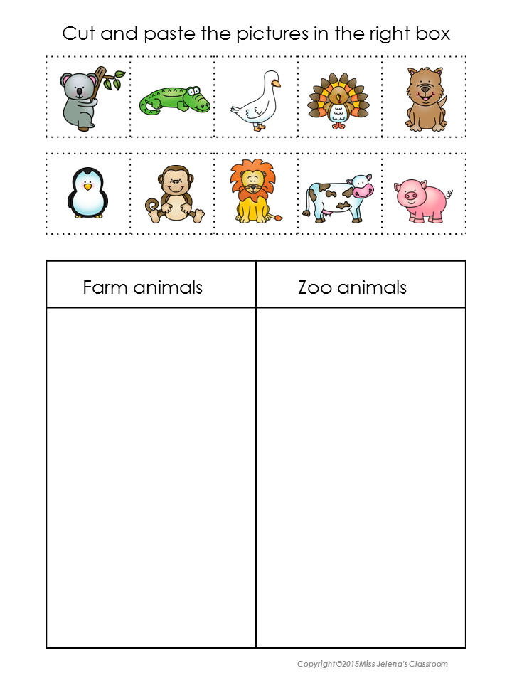 animals sorting set worksheets sorting activities and animal. Black Bedroom Furniture Sets. Home Design Ideas