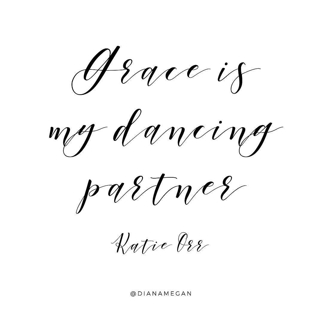 """God's grace rescued me and God's grace continues to carry me. God's grace brought salvation and God's grace trains me to work out that salvation. I have work to do. I have choices to make. But the undercurrent of it all is God's grace. Grace is my dancing partner."" - @thekatieorr . What beautiful truth! This week I've loved studying #EverydayObedience with Katie and 50 other amazing ladies. It's been so freeing to see obedience as a worshipful response to God's grace in our everyday…"