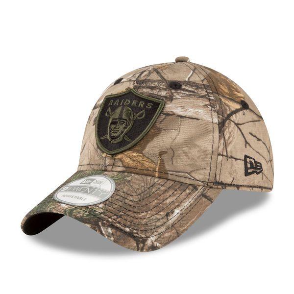 timeless design d331f a3fa7 ... clearance oakland raiders new era realtree camo adjustable hat 4cbf7  d8812