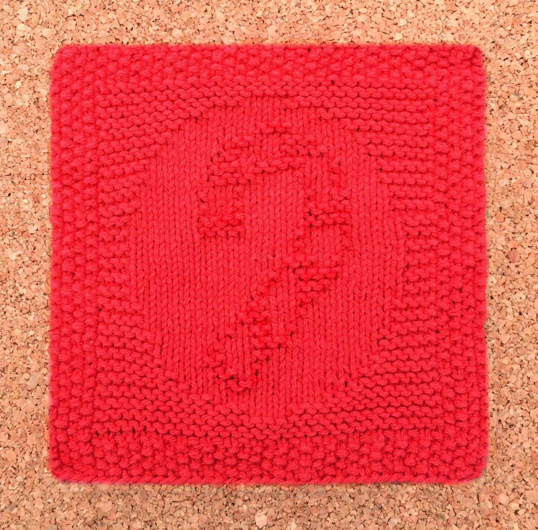 Farmhouse Kitchen Knitted Dishcloth: Candy Cane Dishcloth, 100% Cotton, Christmas Dishcloth