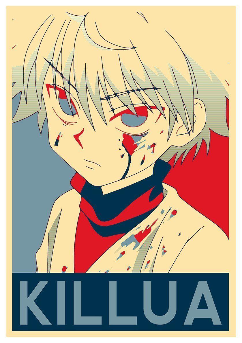 Instabuy poster hunter x hunter propaganda killua a3