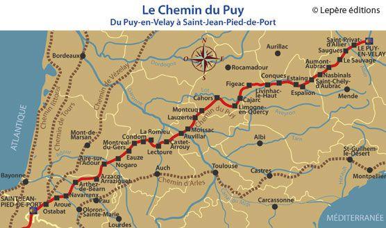 Les Etapes Du Chemin Du Puy Puy Saint Jacques De Compostelle Et