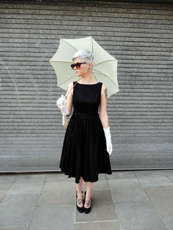 Lindy Bop Black Audrey Hepburn Style Dress 1950 S Vintage Inspired
